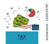 tax day finance card | Shutterstock .eps vector #1320214787