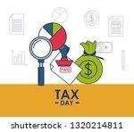 tax day finance card | Shutterstock .eps vector #1320214811