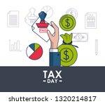 tax day finance card | Shutterstock .eps vector #1320214817