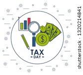 tax day finance card | Shutterstock .eps vector #1320214841