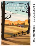 Vermont Retro Poster. Usa...