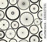 bicycle wheel seamless pattern. ... | Shutterstock .eps vector #1320227231