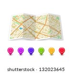 empty map icon with... | Shutterstock . vector #132023645