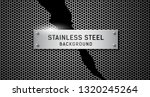 vector stainless steel torn on... | Shutterstock .eps vector #1320245264