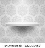 empty isolated shelf on... | Shutterstock .eps vector #132026459