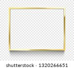golden 4x3 frame. rectangle... | Shutterstock .eps vector #1320266651