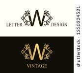 stylish capital letter w.... | Shutterstock .eps vector #1320324521