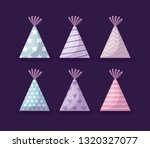set of party hats decorative... | Shutterstock .eps vector #1320327077