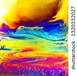 psychedelic background.... | Shutterstock . vector #1320332027