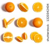 Oranges On A White Background...