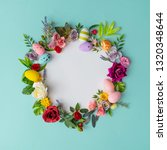 easter wreath made of colorful... | Shutterstock . vector #1320348644