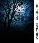 night with moon and tree | Shutterstock . vector #1320363281