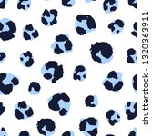 seamless pattern with leopard... | Shutterstock .eps vector #1320363911