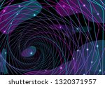 abstract neon shape  futuristic ... | Shutterstock .eps vector #1320371957