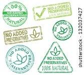 no added preservatives  rubber... | Shutterstock . vector #132037427
