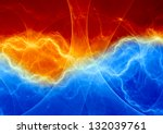 fire and ice abstract fantasy... | Shutterstock . vector #132039761
