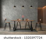 loft style dining room with... | Shutterstock . vector #1320397724