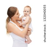 picture of happy mother with... | Shutterstock . vector #132040055