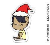 hand drawn sticker cartoon of a ... | Shutterstock .eps vector #1320424301