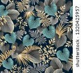 seamless background dark leaves ...   Shutterstock .eps vector #1320425957