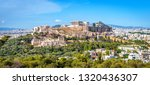 panorama of athens with... | Shutterstock . vector #1320436307