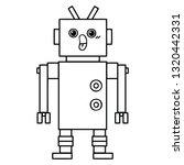 line drawing cartoon of a robot | Shutterstock .eps vector #1320442331