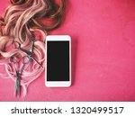smart phone and hair cutting... | Shutterstock . vector #1320499517