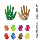 design vector hand logo element.... | Shutterstock .eps vector #132050519