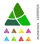design abstract triangle logo... | Shutterstock .eps vector #132050525