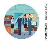 coworkers in office desk... | Shutterstock .eps vector #1320511817
