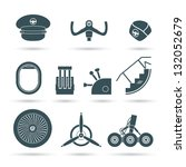 set of airplane elements  ... | Shutterstock .eps vector #132052679