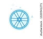 bike rim and spokes flat icon....