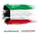 kuwait. kuwaiti flag  on white... | Shutterstock . vector #132055595