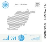 afghanistan people icon map.... | Shutterstock . vector #1320567647