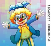 illustration of a clown with a... | Shutterstock .eps vector #132059051
