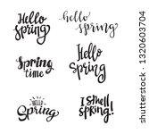 set of spring hand lettering... | Shutterstock .eps vector #1320603704