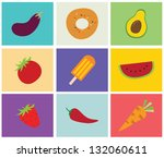 greeting card with fruits | Shutterstock .eps vector #132060611