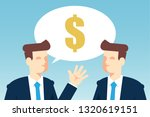 businessmen talking about money | Shutterstock .eps vector #1320619151
