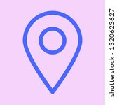 map pointer icon. gps location... | Shutterstock .eps vector #1320623627