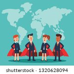 super business man and business ... | Shutterstock .eps vector #1320628094