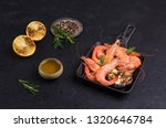 fried unpeeled large shrimp... | Shutterstock . vector #1320646784