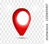 3d map pointer pin isolated on... | Shutterstock .eps vector #1320654407