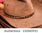 Stack Of Brown Mens Cowboy Hats