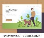 landing page template of pet...   Shutterstock .eps vector #1320663824