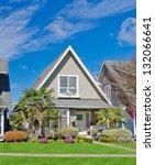 suburban middle  class home...   Shutterstock . vector #132066641