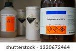 Bottle Of Sulfuric Acid  H2so4...