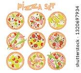 pizza. set. food cartoon.... | Shutterstock .eps vector #1320697934
