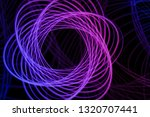 abstract neon shape  futuristic ... | Shutterstock .eps vector #1320707441