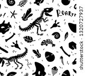 dinosaur skeleton and fossils....   Shutterstock .eps vector #1320727937
