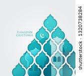 ramadan greetings design   Shutterstock .eps vector #1320738284